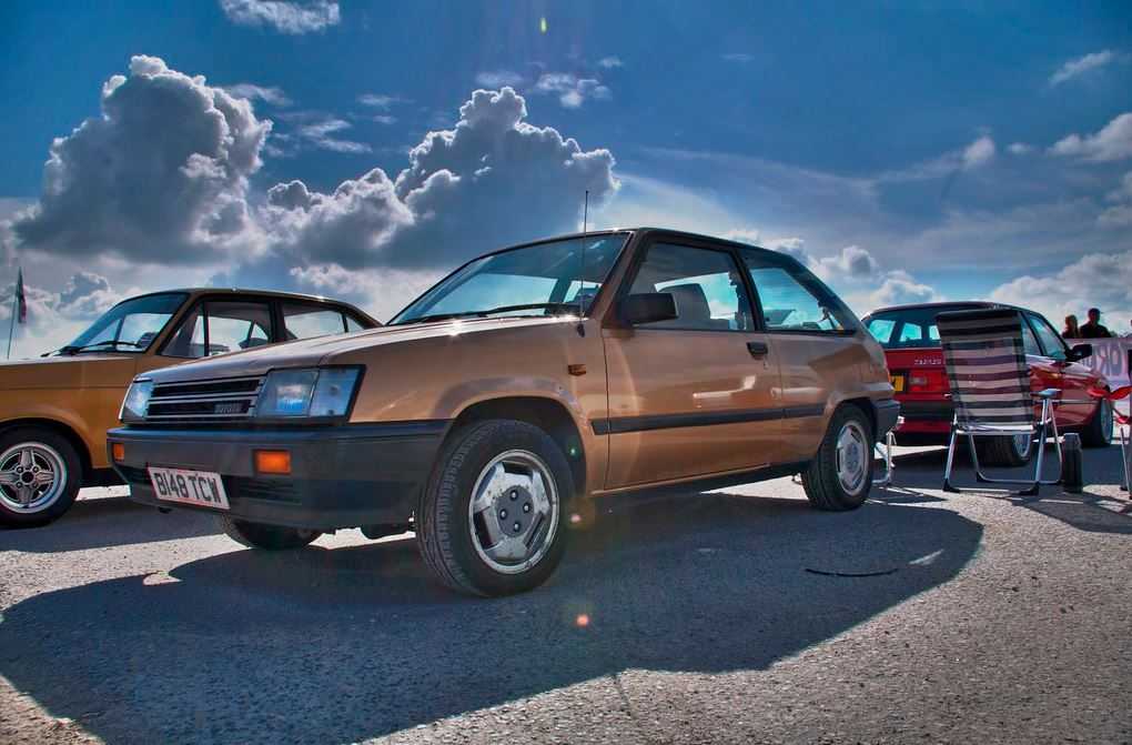 1984 Toyota Tercel At An Outdoor Show In Yorkshire UK
